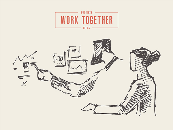 Two,Successful,Businessmen,Making,A,Project,,Business,Planning,,Teamwork,,Partnership,